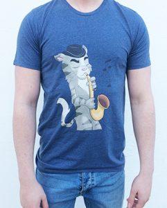 Saxophone Cat T-shirt